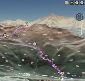 Mappe 3d itinerari ed escursioni
